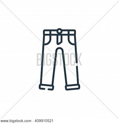 trousers icon isolated on white background from sewing collection. trousers icon thin line outline l