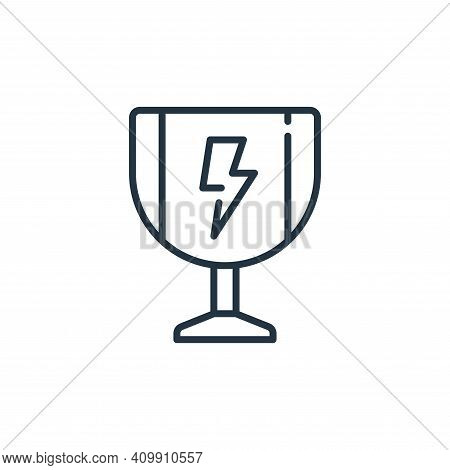 trophy icon isolated on white background from life skills collection. trophy icon thin line outline