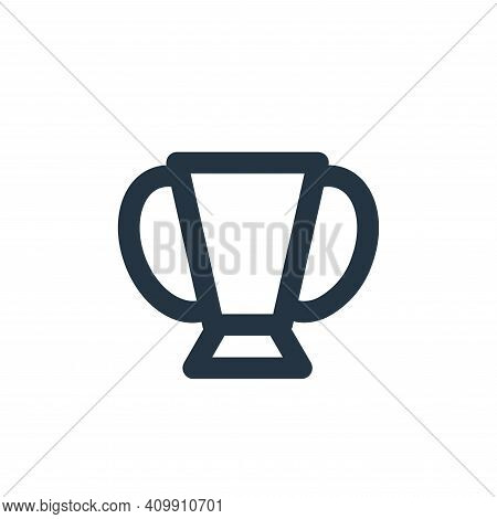 trophy icon isolated on white background from sport collection. trophy icon thin line outline linear