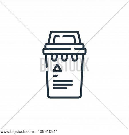 trash bin icon isolated on white background from coronavirus prevention collection. trash bin icon t