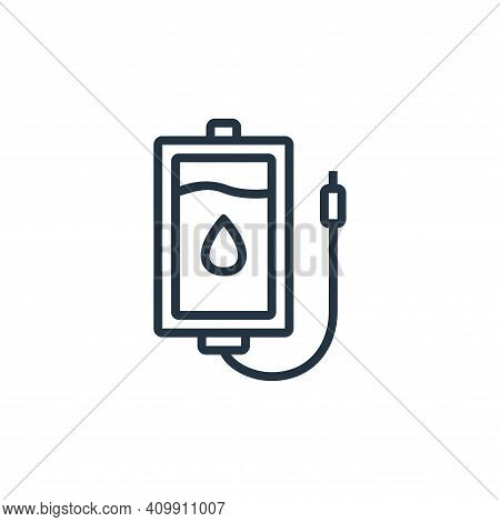 transfusion icon isolated on white background from hospital collection. transfusion icon thin line o
