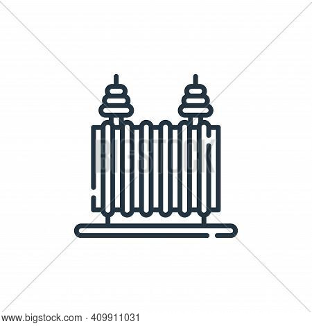 transformer icon isolated on white background from electrician tools and elements collection. transf