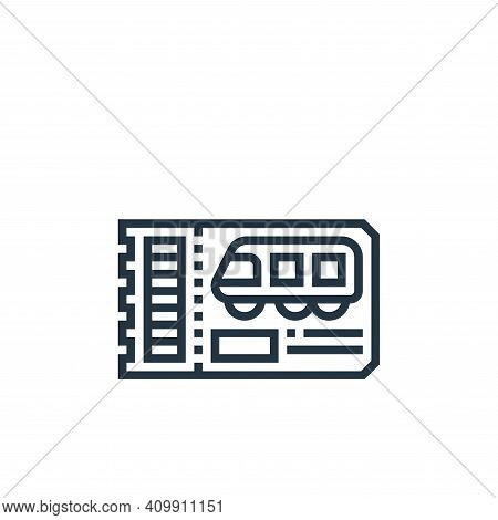 train ticket icon isolated on white background from railway collection. train ticket icon thin line