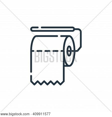 toilet paper icon isolated on white background from hygiene routine collection. toilet paper icon th