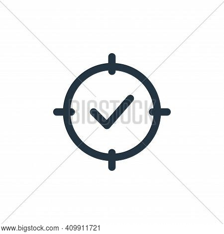 tick mark icon isolated on white background from web apps seo collection. tick mark icon thin line o