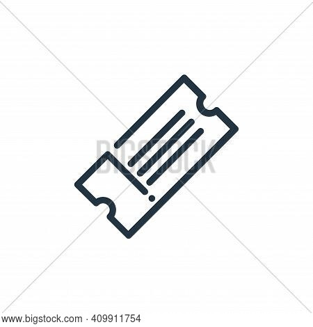 ticket icon isolated on white background from ricon collection. ticket icon thin line outline linear