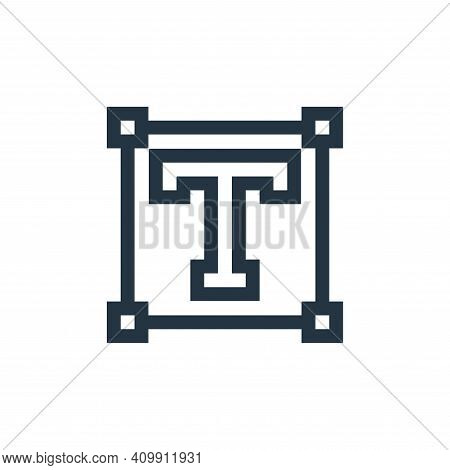 text icon isolated on white background from text editor collection. text icon thin line outline line