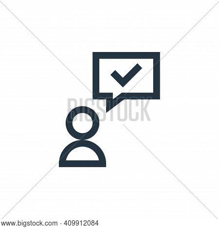 testimonial icon isolated on white background from feedback and testimonials collection. testimonial
