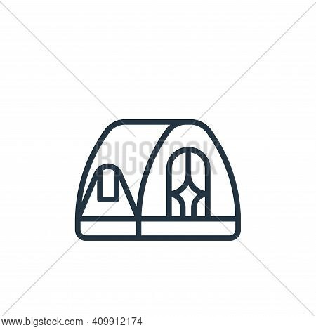 tent icon isolated on white background from camping collection. tent icon thin line outline linear t