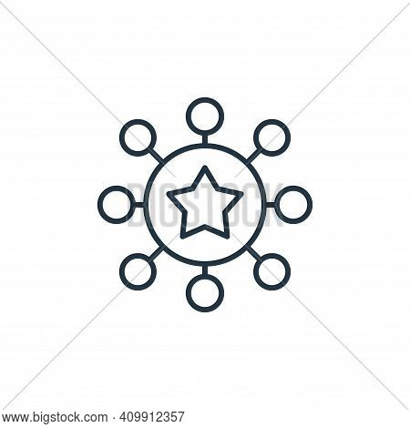 teamwork icon isolated on white background from leadership collection. teamwork icon thin line outli