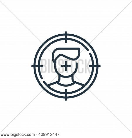target icon isolated on white background from life skills collection. target icon thin line outline