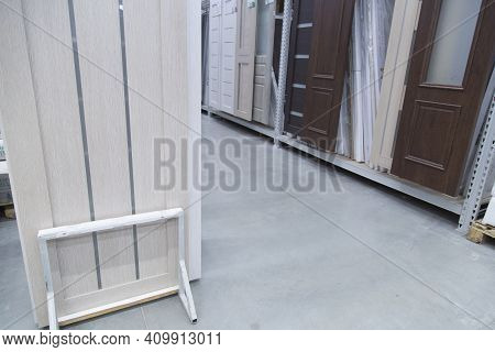 Sale Of Doors. Building Materials Store. Everything For Home Repairs.