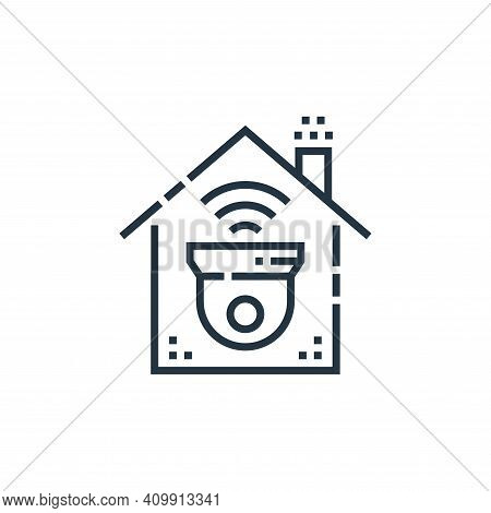 surveillance icon isolated on white background from smarthome collection. surveillance icon thin lin