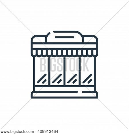 supermarket icon isolated on white background from delivery collection. supermarket icon thin line o