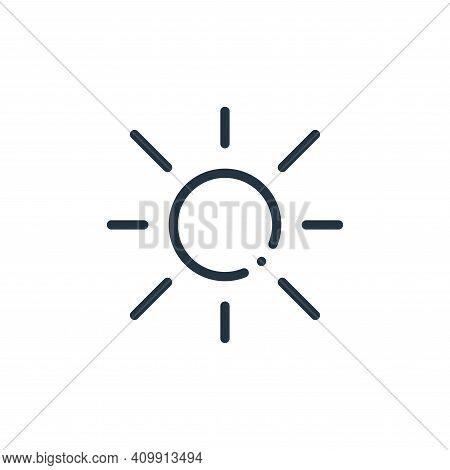 sun icon isolated on white background from ecology collection. sun icon thin line outline linear sun