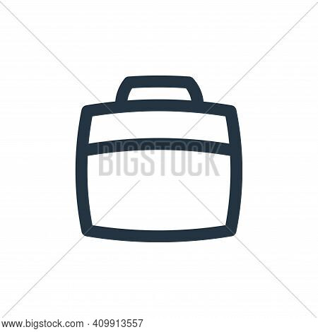 suitcase icon isolated on white background from basic ui collection. suitcase icon thin line outline