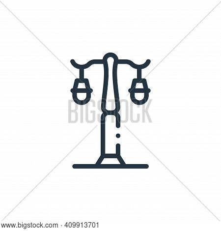 street lamp icon isolated on white background from in the village collection. street lamp icon thin