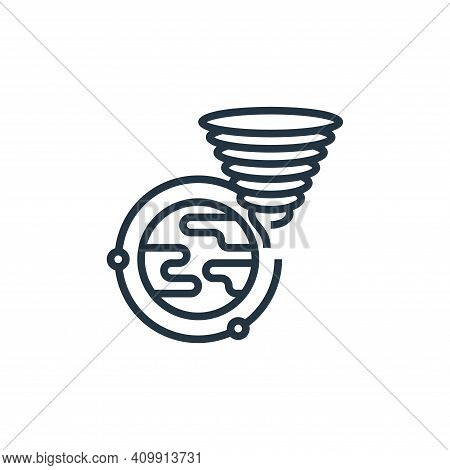 storms icon isolated on white background from climate change collection. storms icon thin line outli