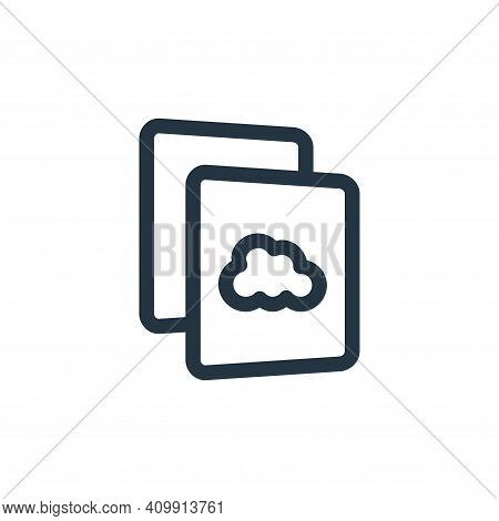 storage icon isolated on white background from file and archive collection. storage icon thin line o