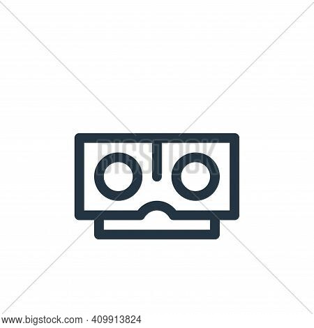 stereoscope icon isolated on white background from virtual reality collection. stereoscope icon thin