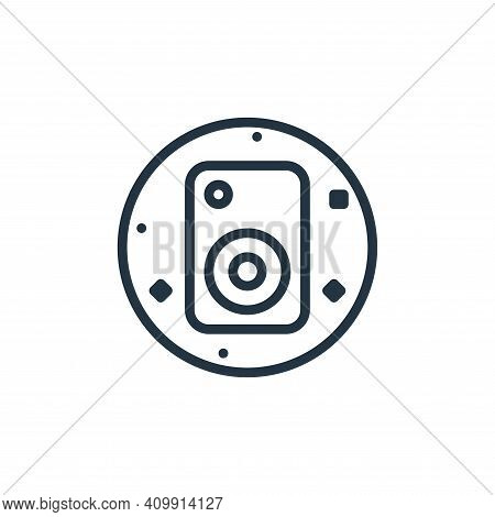 speaker icon isolated on white background from music and sound collection. speaker icon thin line ou