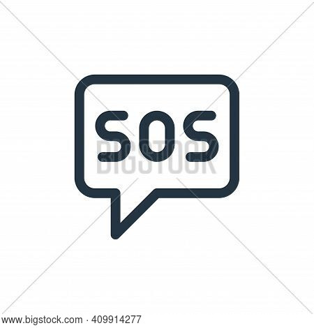 sos icon isolated on white background from emergencies collection. sos icon thin line outline linear