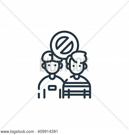 social icon isolated on white background from coronavirus prevention collection. social icon thin li