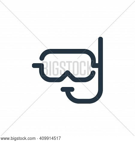 snorkel icon isolated on white background from travel collection. snorkel icon thin line outline lin