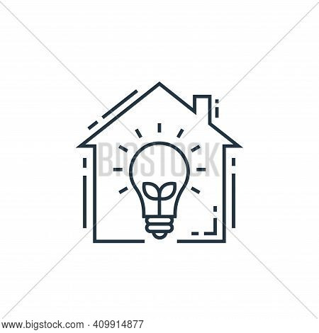 smart house icon isolated on white background from environment and eco collection. smart house icon
