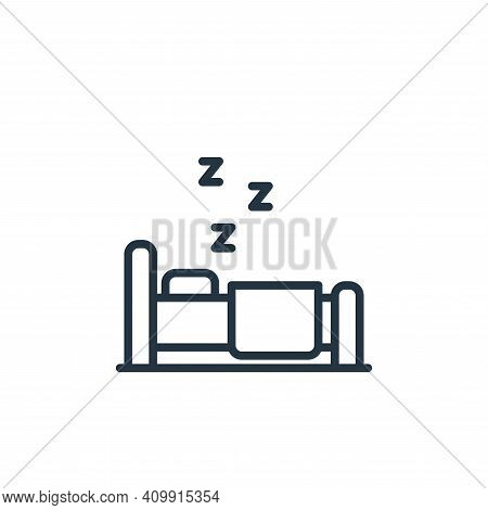 sleeping icon isolated on white background from stay at home collection. sleeping icon thin line out