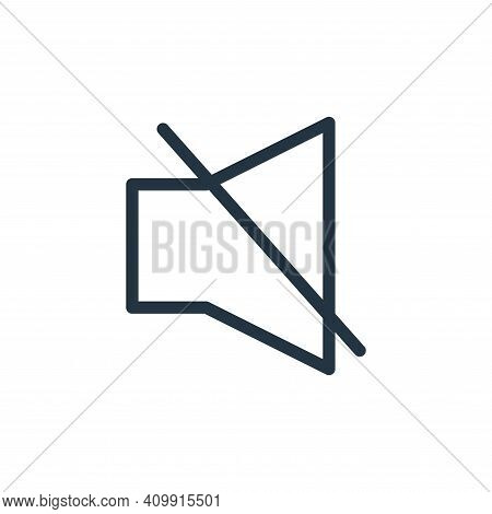 silent icon isolated on white background from technology collection. silent icon thin line outline l