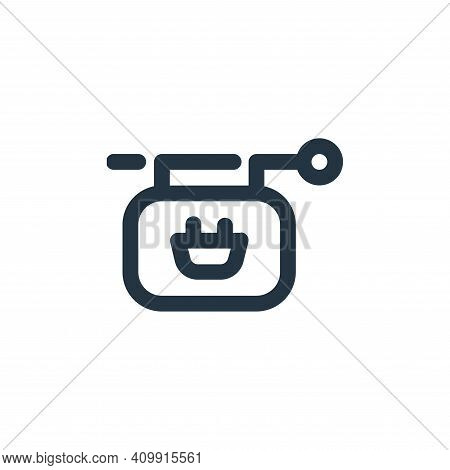 sign icon isolated on white background from shopping collection. sign icon thin line outline linear
