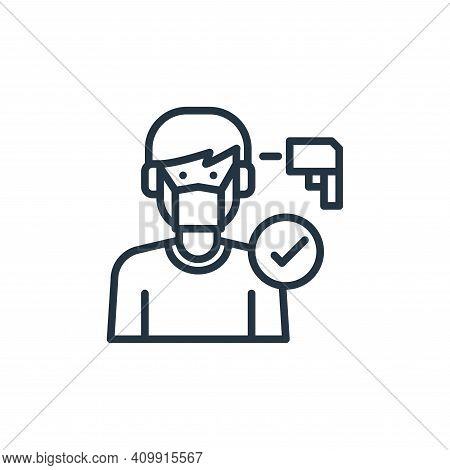 sick icon isolated on white background from virus collection. sick icon thin line outline linear sic