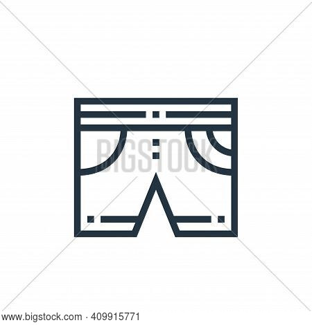 shorts icon isolated on white background from clothes and apparel collection. shorts icon thin line
