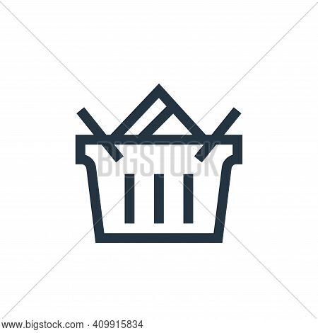 shopping basket icon isolated on white background from payment collection. shopping basket icon thin