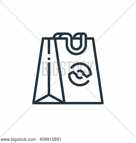 shopping bag icon isolated on white background from recycling collection. shopping bag icon thin lin