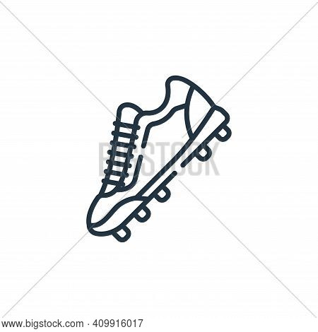 shoes icon isolated on white background from baseball collection. shoes icon thin line outline linea