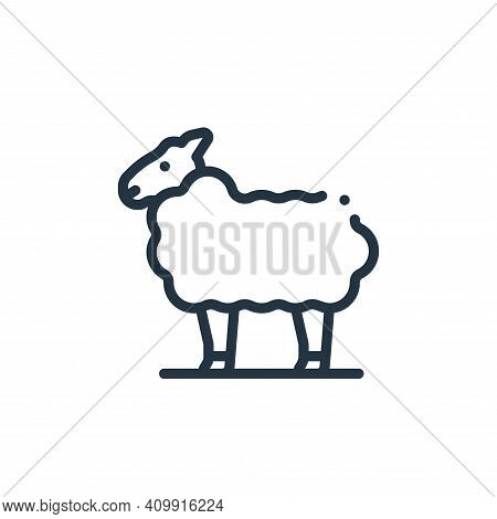 sheep icon isolated on white background from in the village collection. sheep icon thin line outline