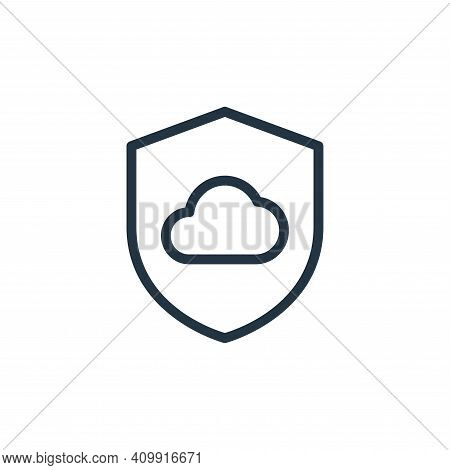 secure icon isolated on white background from work office server collection. secure icon thin line o