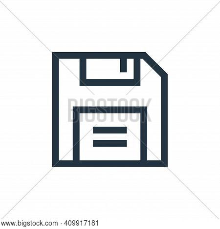 save icon isolated on white background from text editor collection. save icon thin line outline line