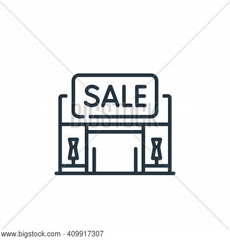 sale icon isolated on white background from mall collection. sale icon thin line outline linear sale