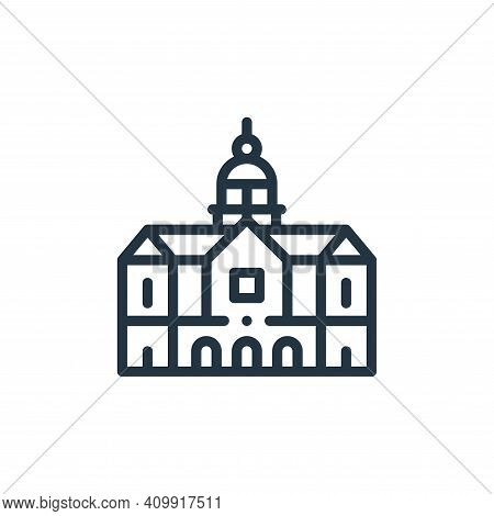 royal palace icon isolated on white background from holland collection. royal palace icon thin line