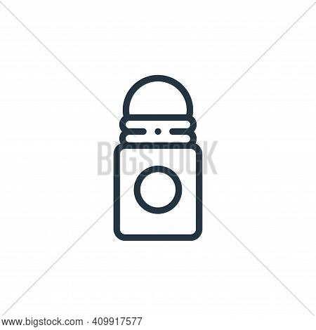 roll on icon isolated on white background from plastic products collection. roll on icon thin line o