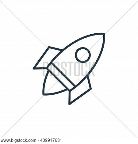 rocket icon isolated on white background from space collection. rocket icon thin line outline linear