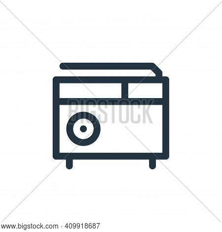 radio icon isolated on white background from music collection. radio icon thin line outline linear r