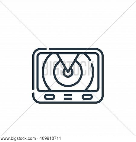 radar icon isolated on white background from navigation and maps collection. radar icon thin line ou
