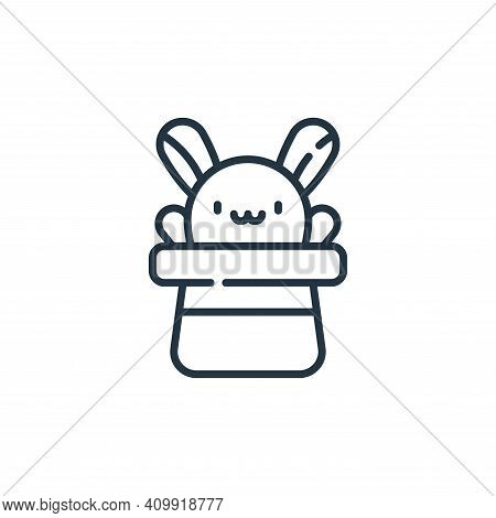 rabbit icon isolated on white background from circus collection. rabbit icon thin line outline linea