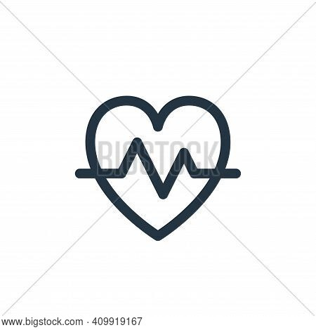 pulse icon isolated on white background from emergencies collection. pulse icon thin line outline li