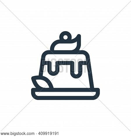 pudding icon isolated on white background from gastronomy collection. pudding icon thin line outline