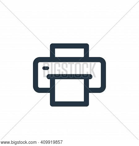 printer icon isolated on white background from electronic and device collection. printer icon thin l
